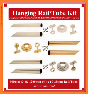 Wardrobe Rail Hang kits